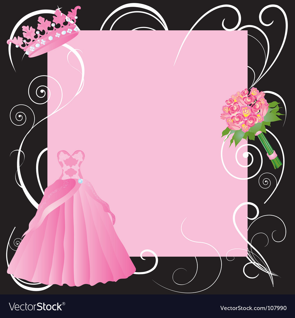 La quinceanera invitation vector