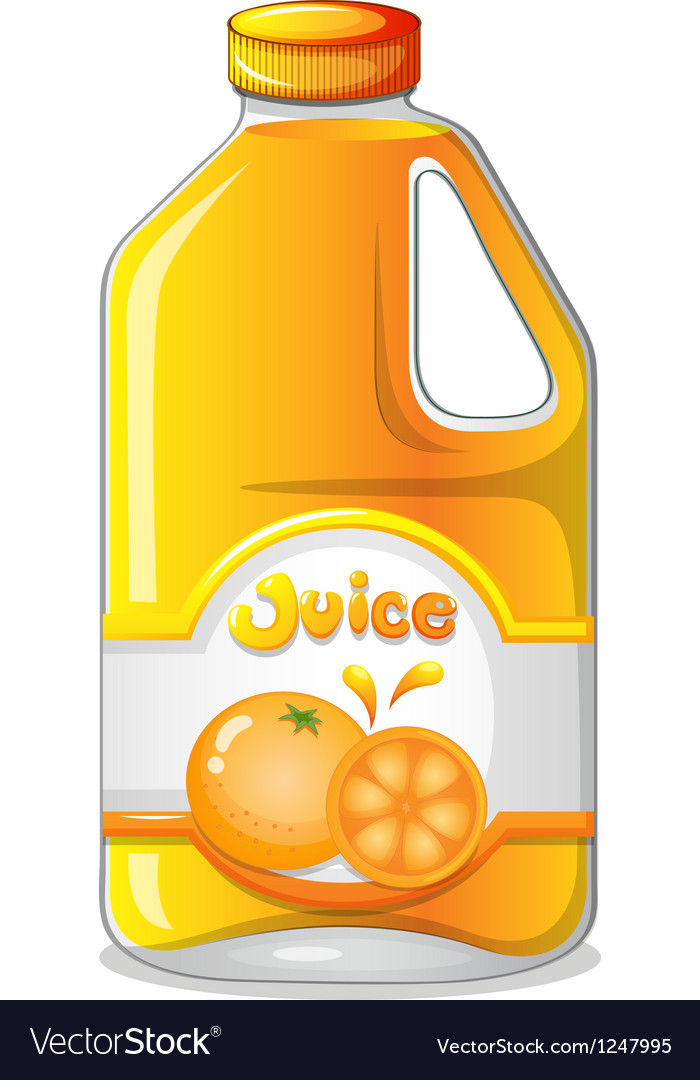 Orange juice in a gallon vector