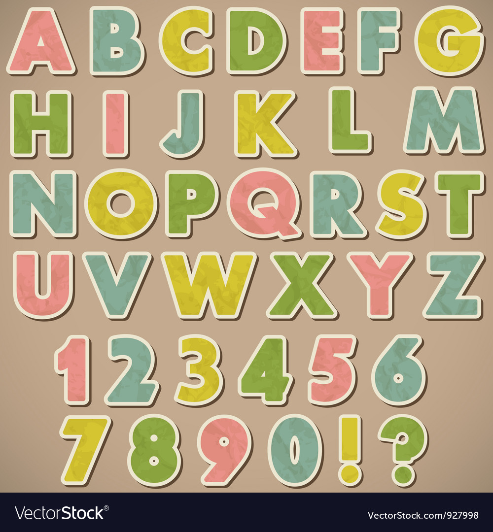 Alphabet paper vector
