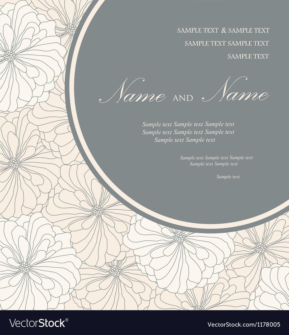 Floral invitation card vector
