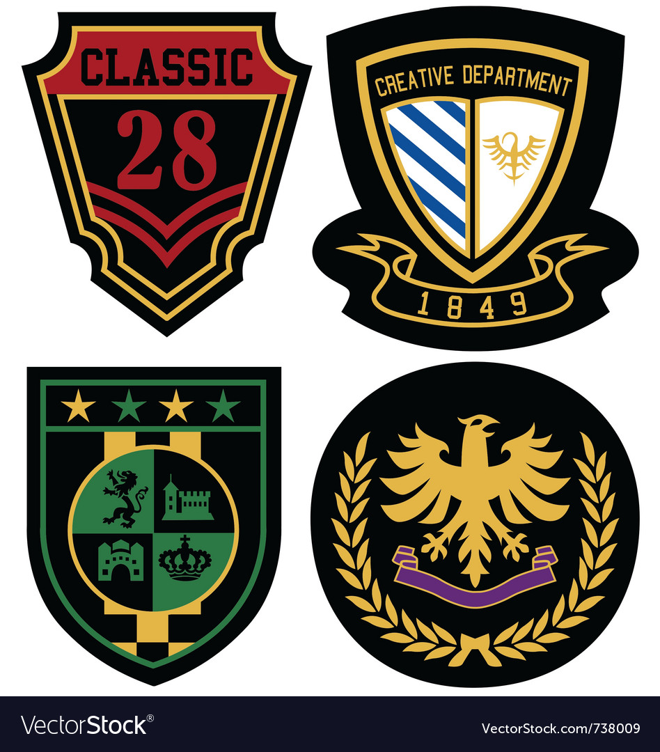 Emblem royal badge shield vector