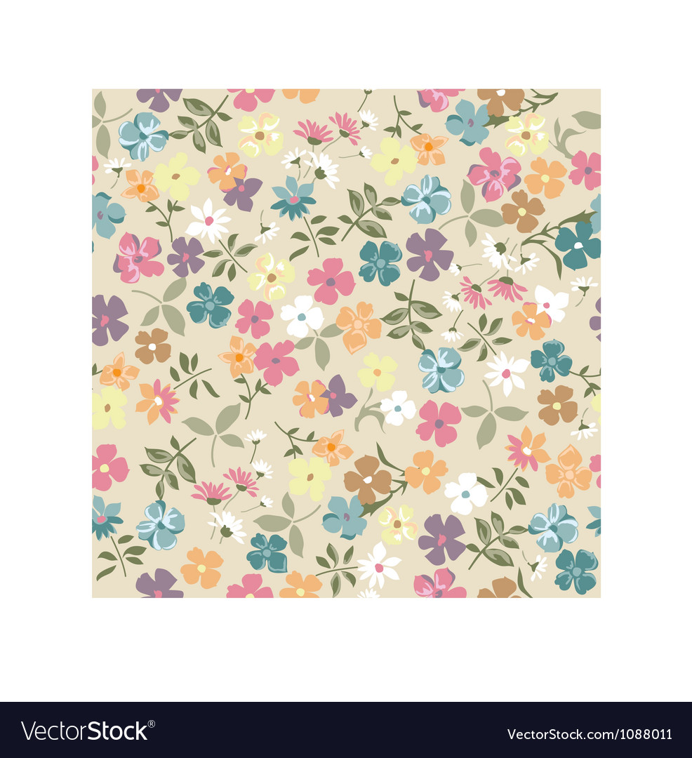 Cute vintage ditsy background vector