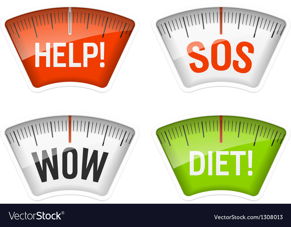 Bathroom scales with messages vector