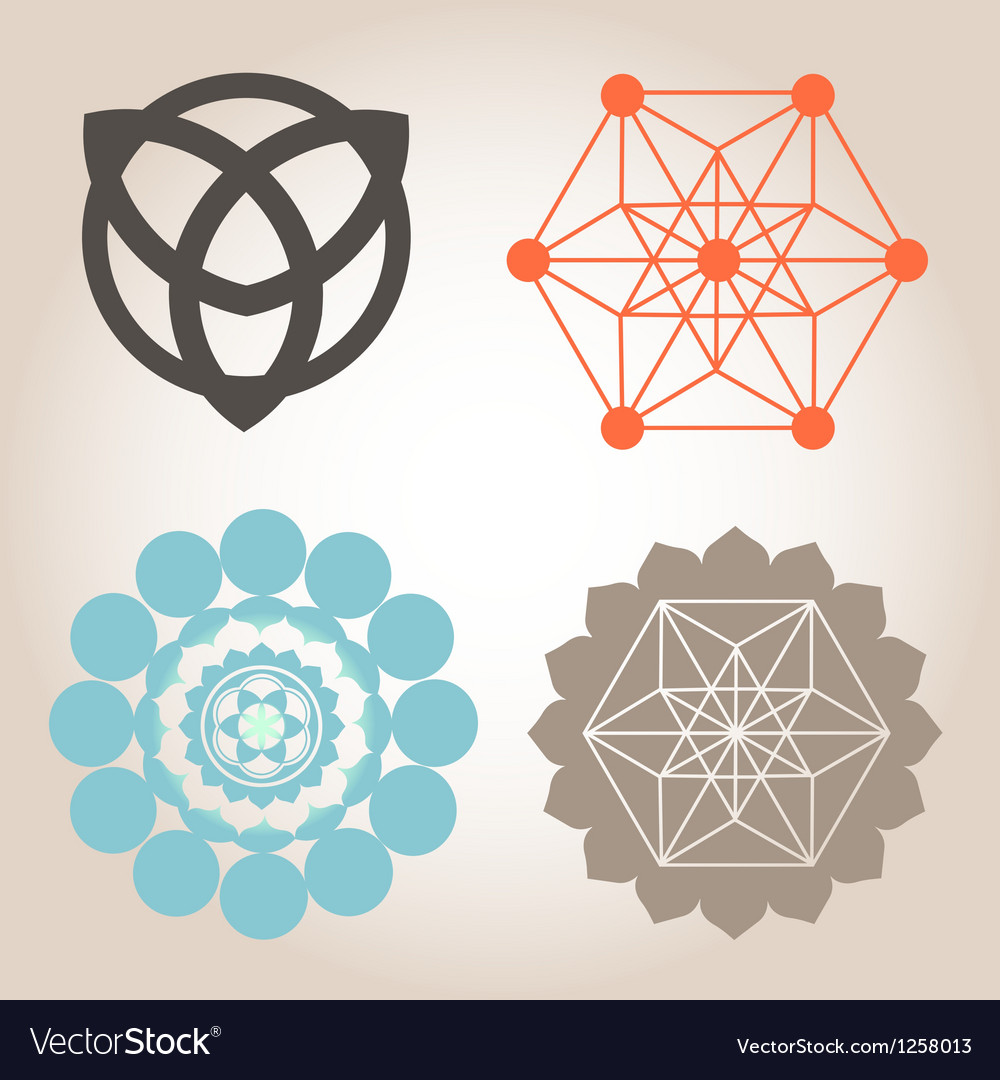 Geometrical designs vector