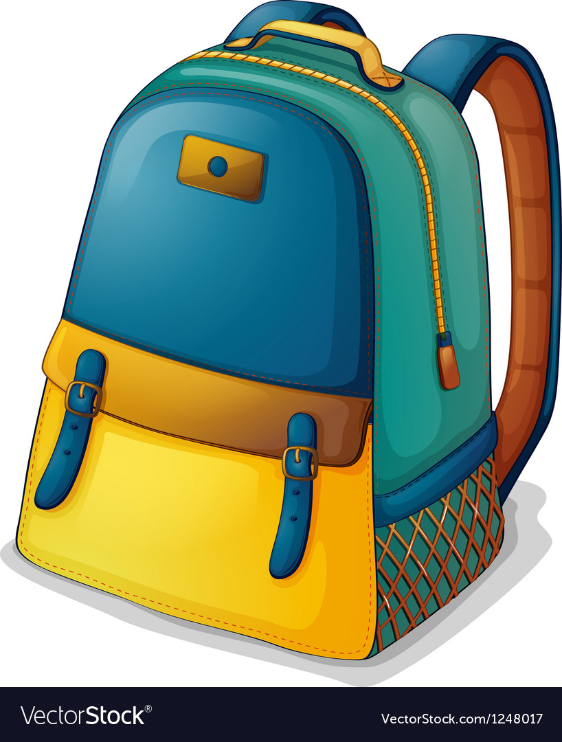 A colorful back pack vector