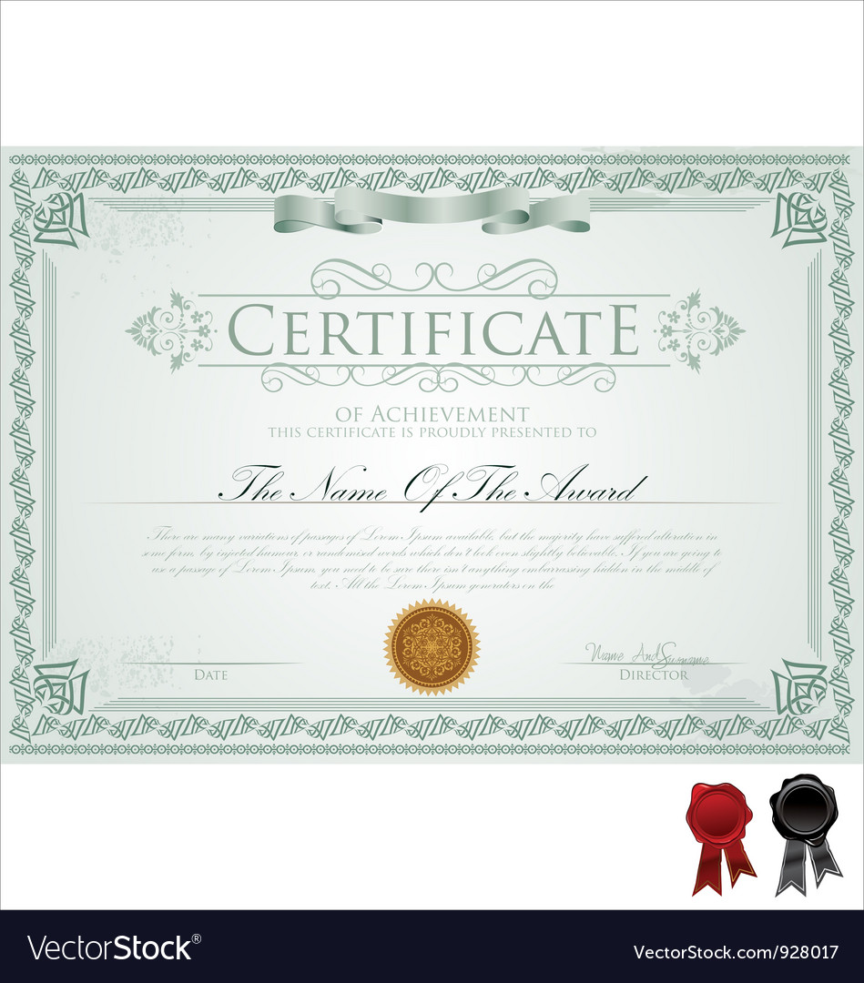 Detailed certificate vector