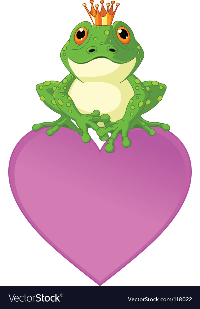 Heart frog vector