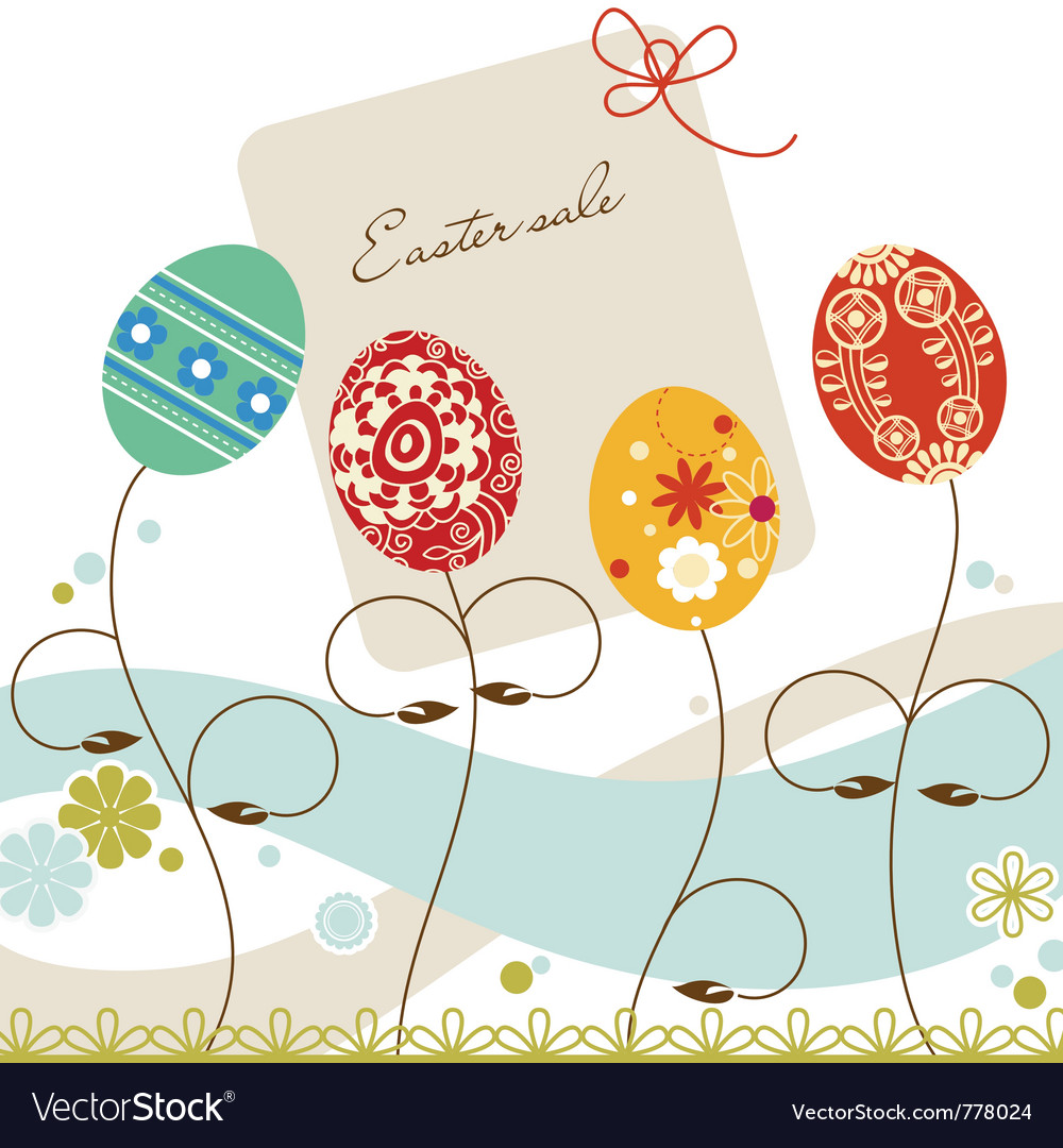 Easter sale vector