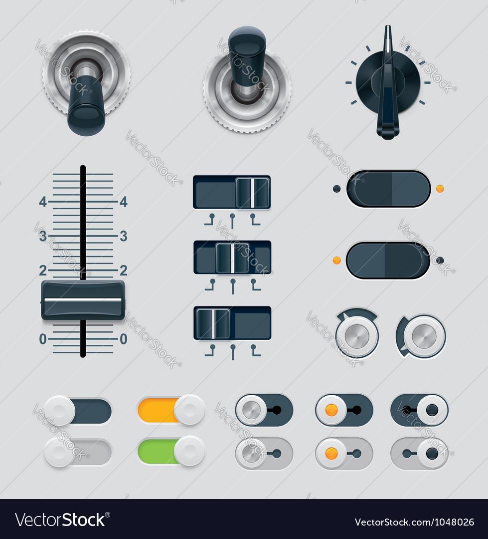 Ui dials set vector