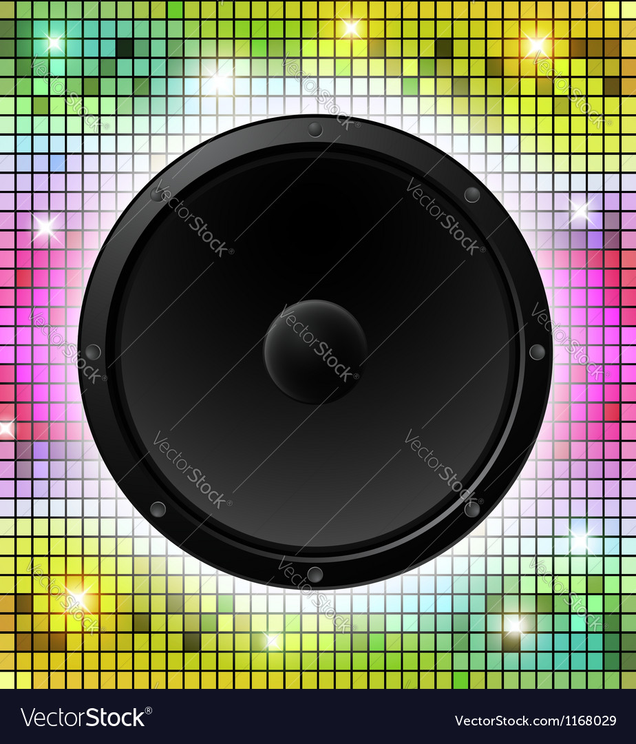 Colorful disco party design vector