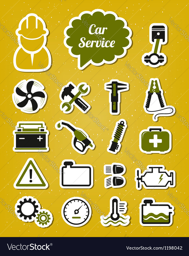 Car service icons vector