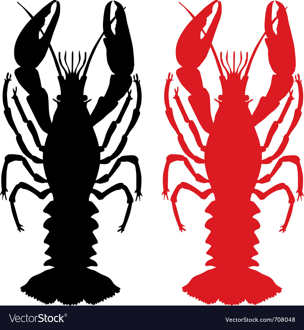 Crawfish silhouette vector