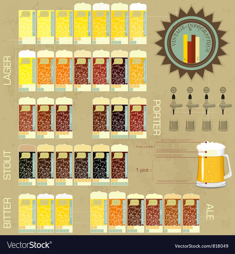 Infographics vintage elements vector