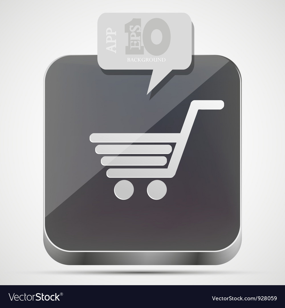 Shopping app icon vector
