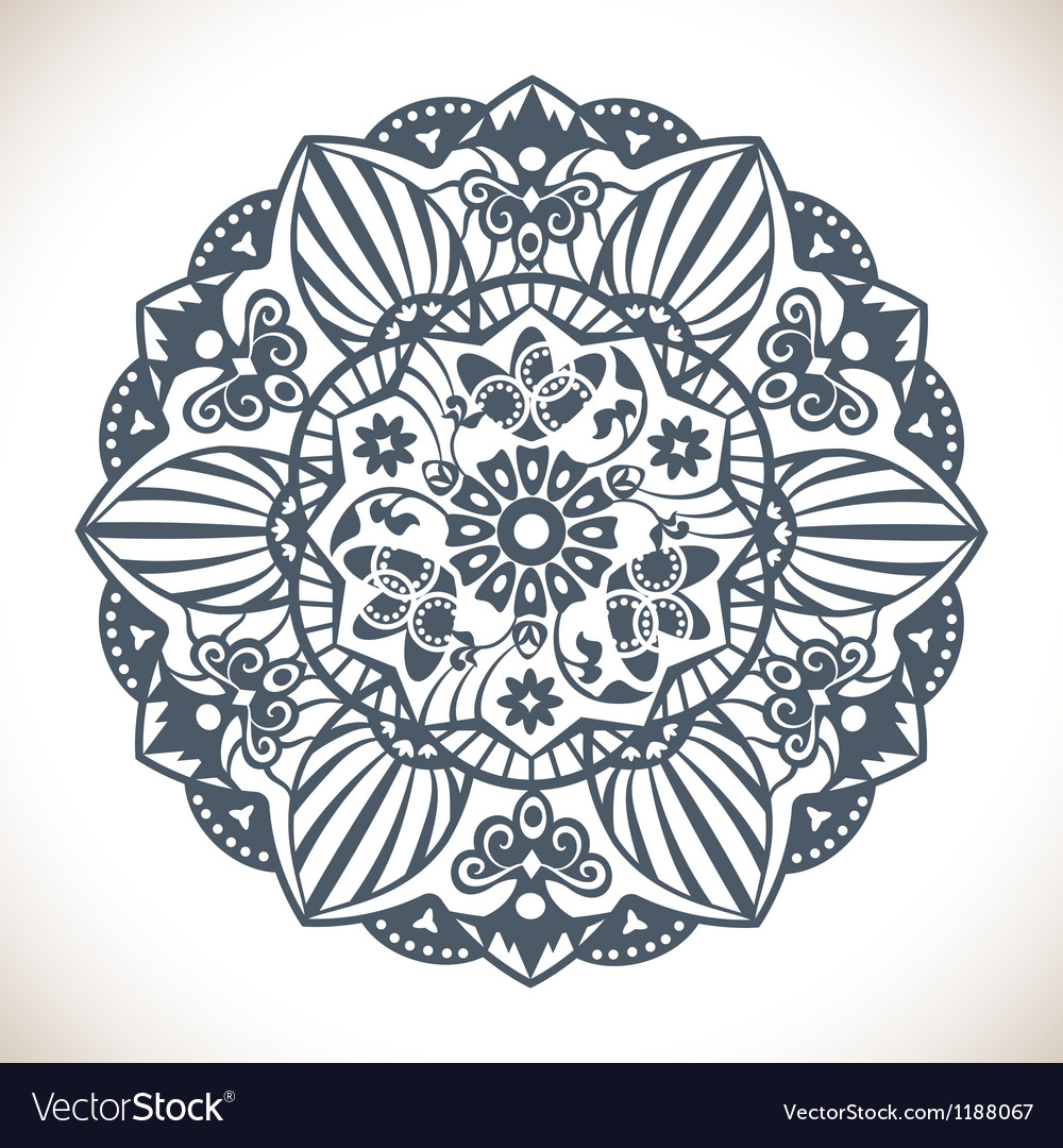 Mandala round ornament pattern vector