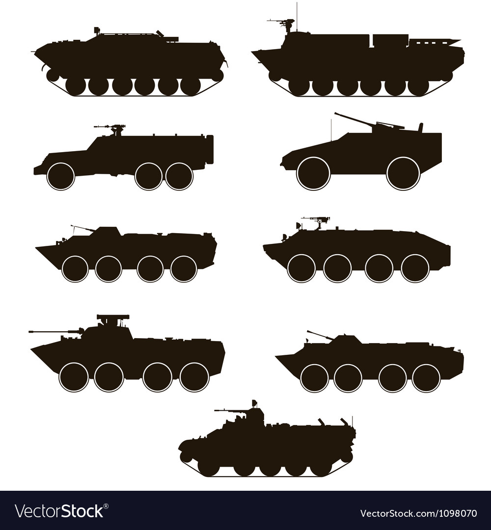 Armoured personnel carrier vector