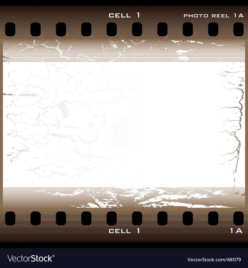 Grunge film cell vector