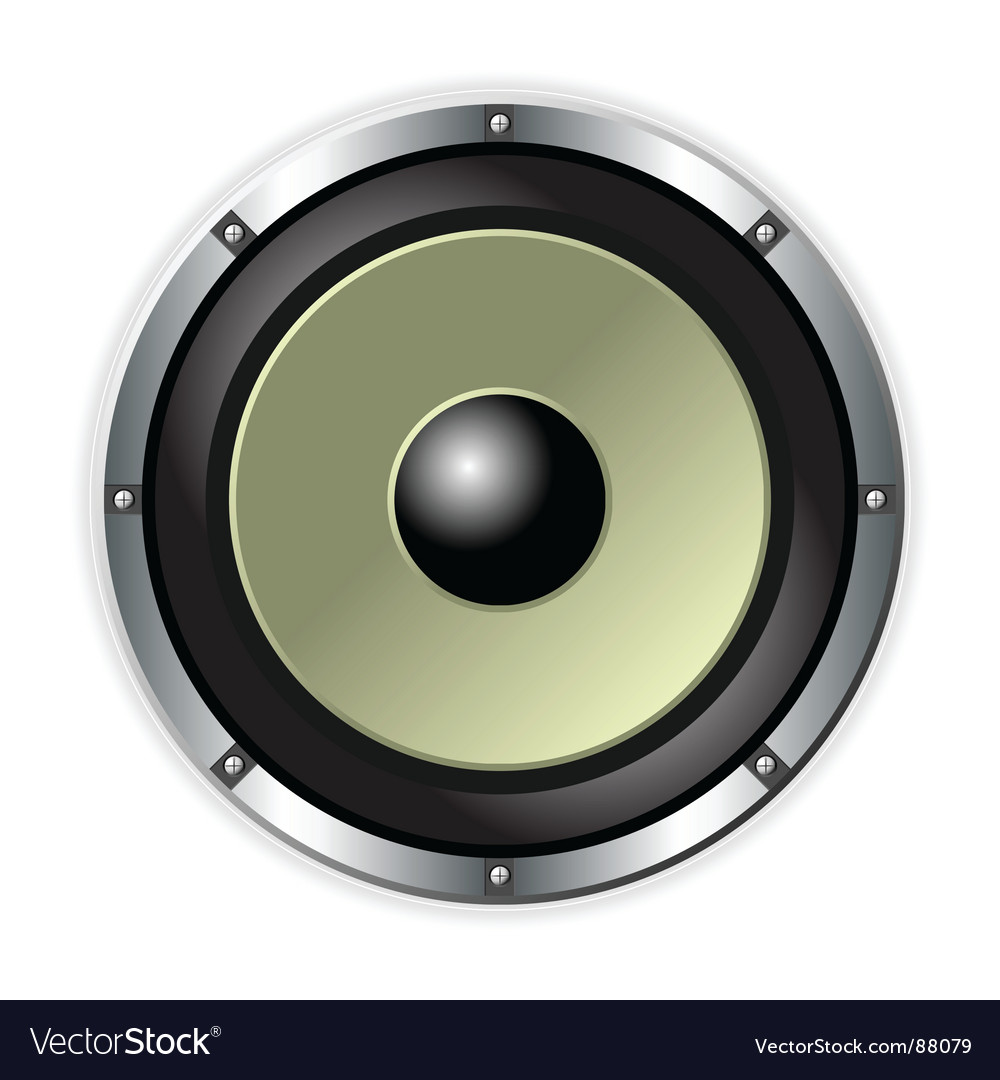 Speaker over white vector