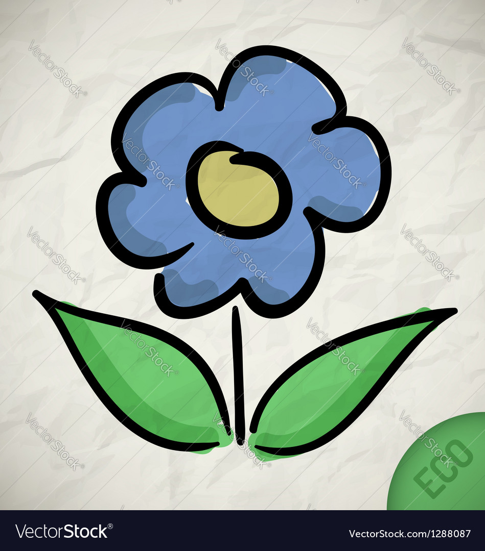 Flower eco vector
