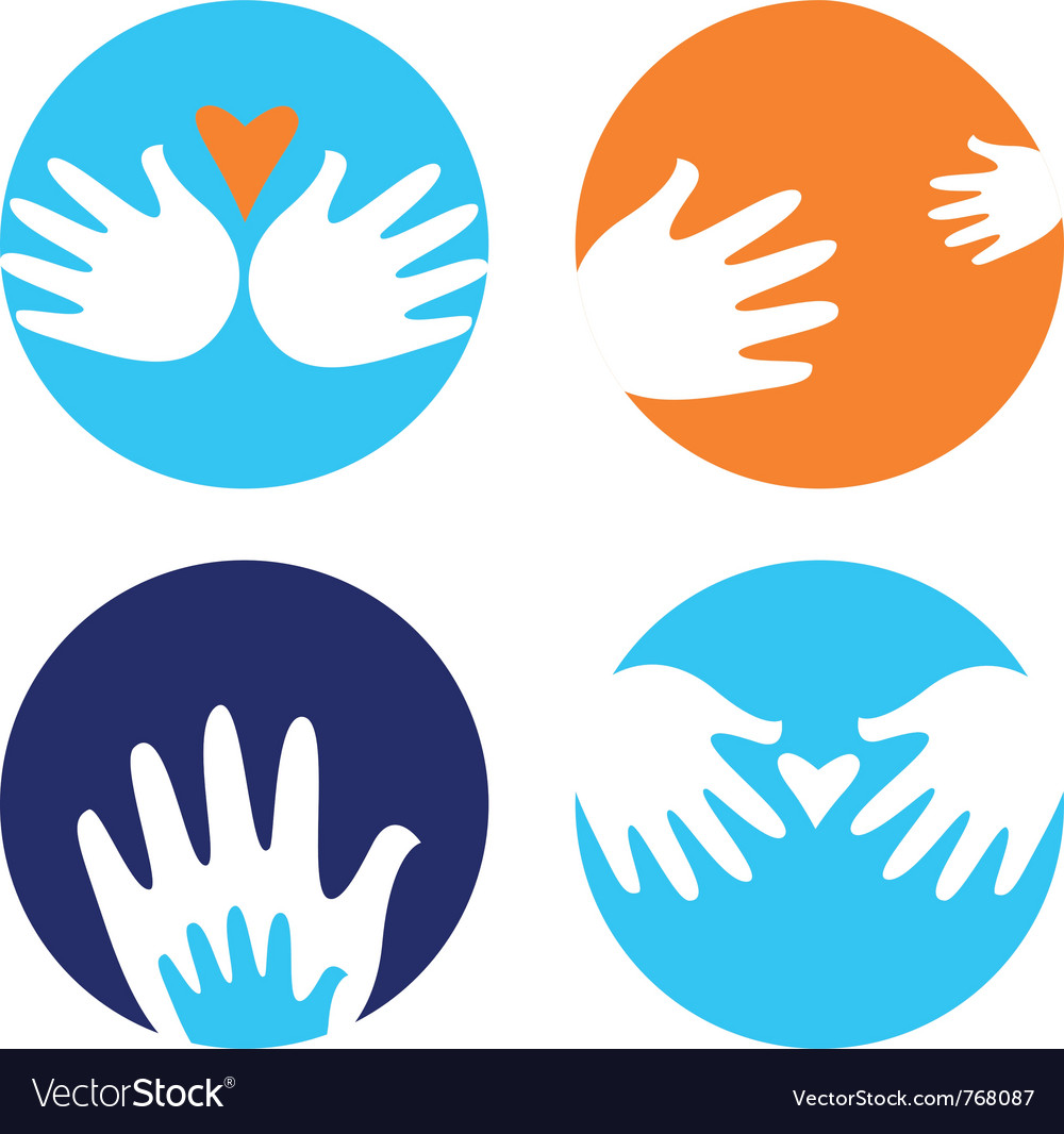 Helpful and carrying hands vector