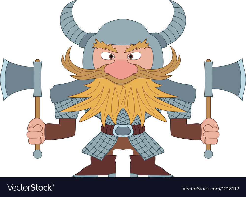 Dwarf warrior vector