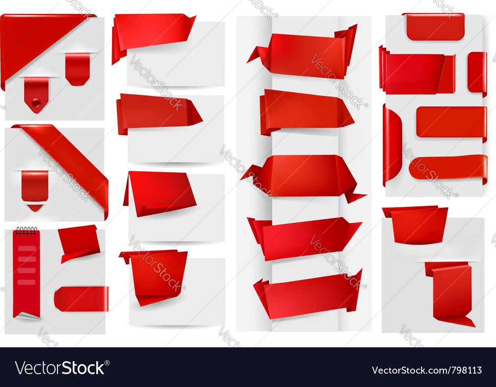 Origami paper elements vector