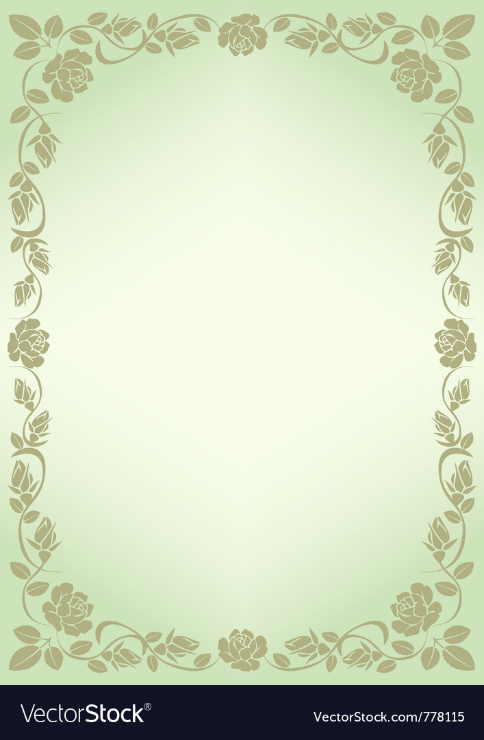 Background for menu with border roses vector by mtmmarek - Image ... Vintage Border Vector
