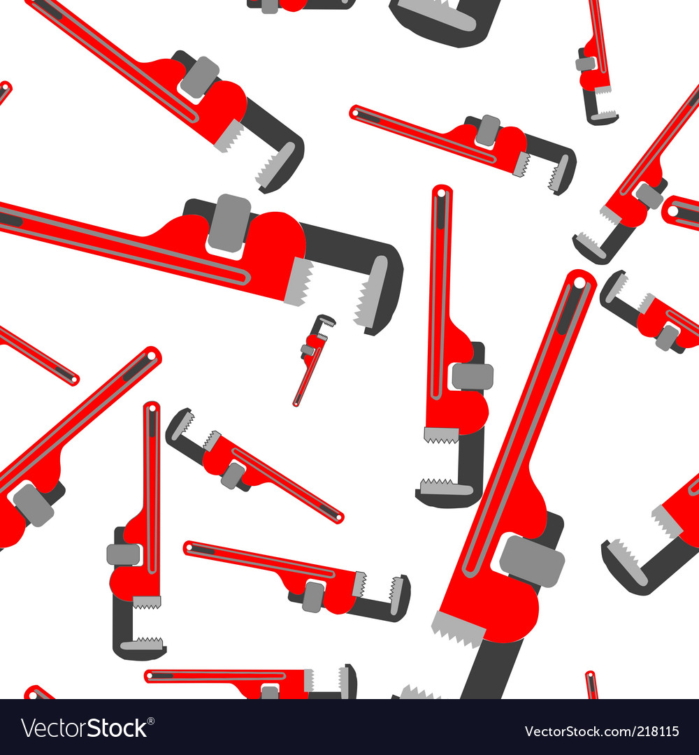 Wrench pipe pattern vector