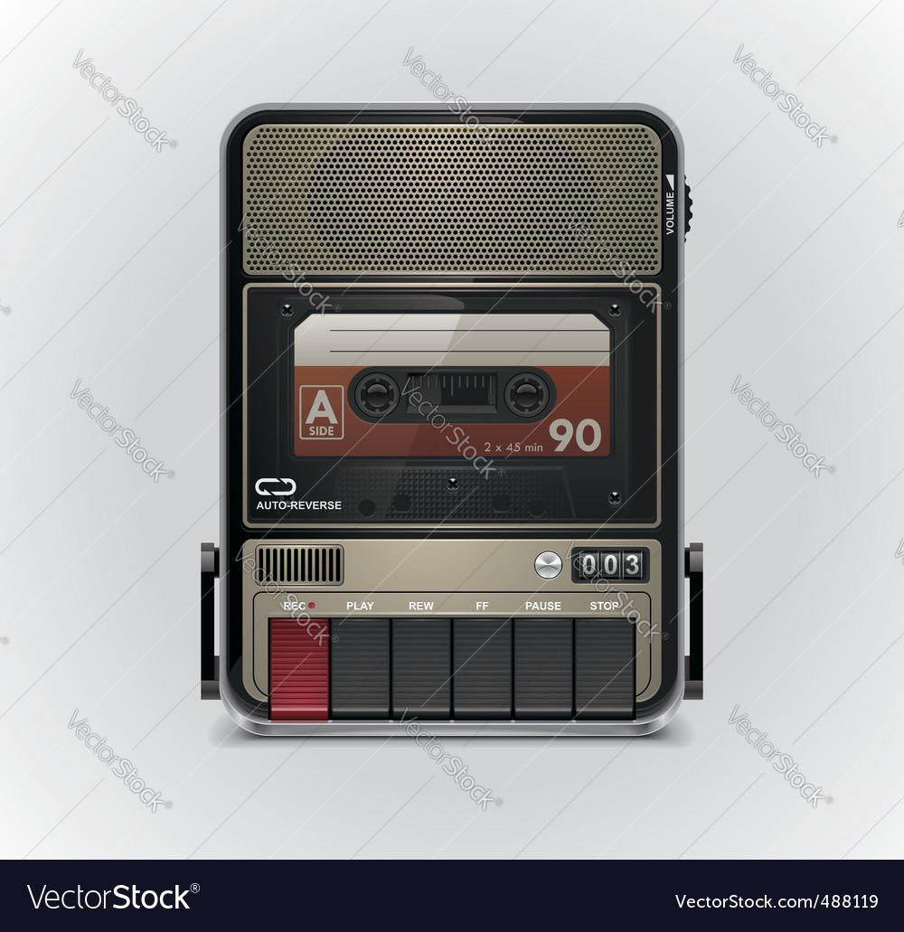 Cassette recorder vector