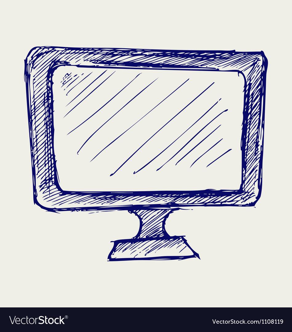 Seen on tv icon vector