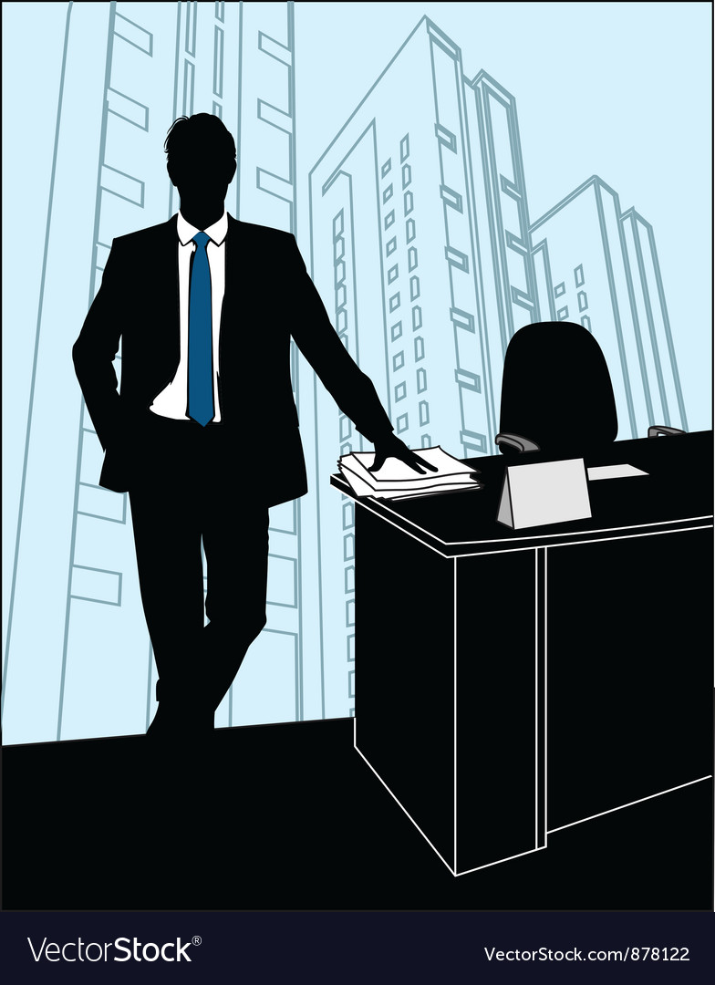 Businessmen office silhouette vector