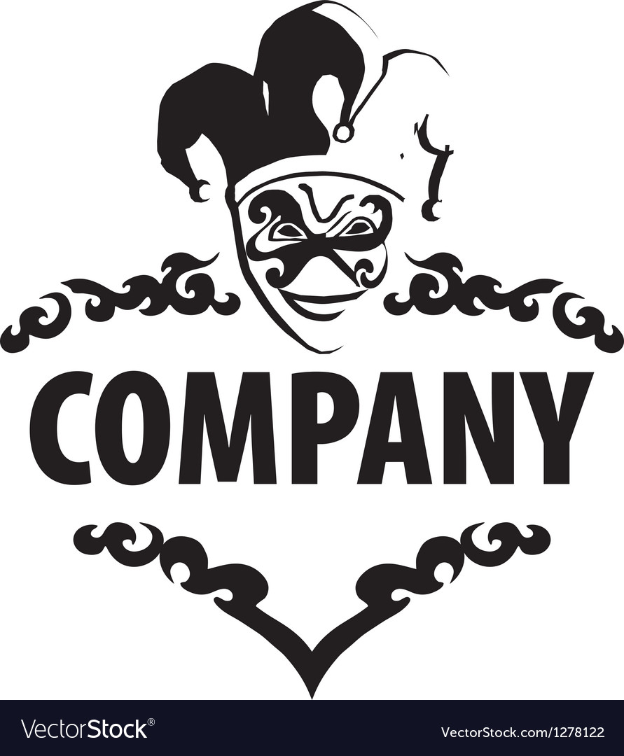 Logo joker vector