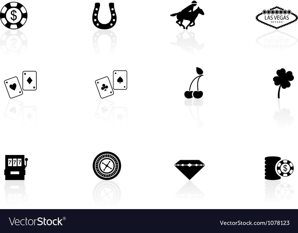 Las vegas icons vector