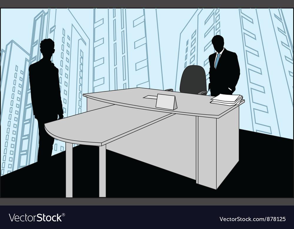 Businessmen silhouette vector