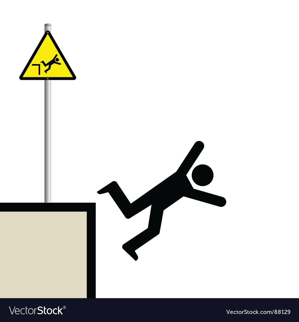 Man falling vector