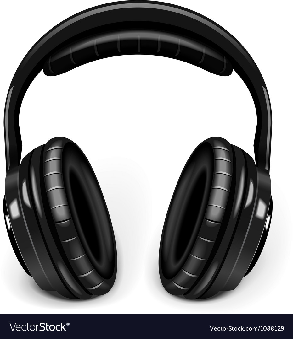 Music headphones vector
