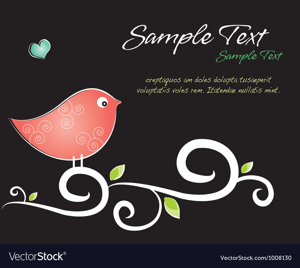 Crafty bird background vector