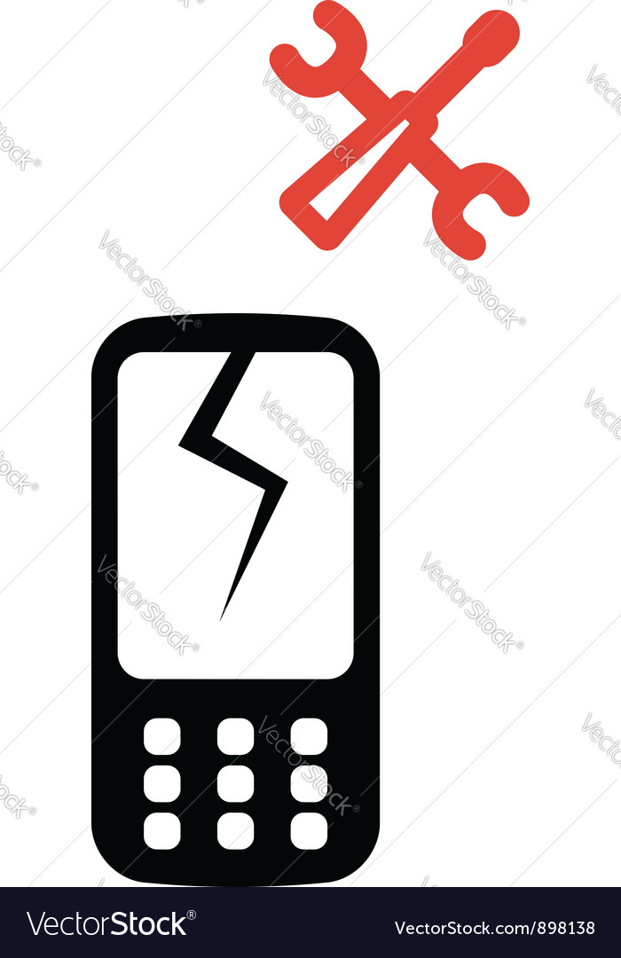 Phone service icon vector