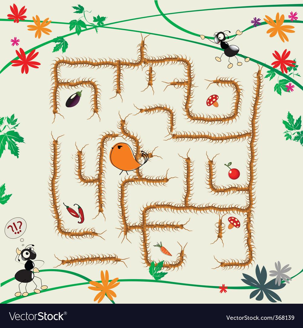 Complicated maze vector