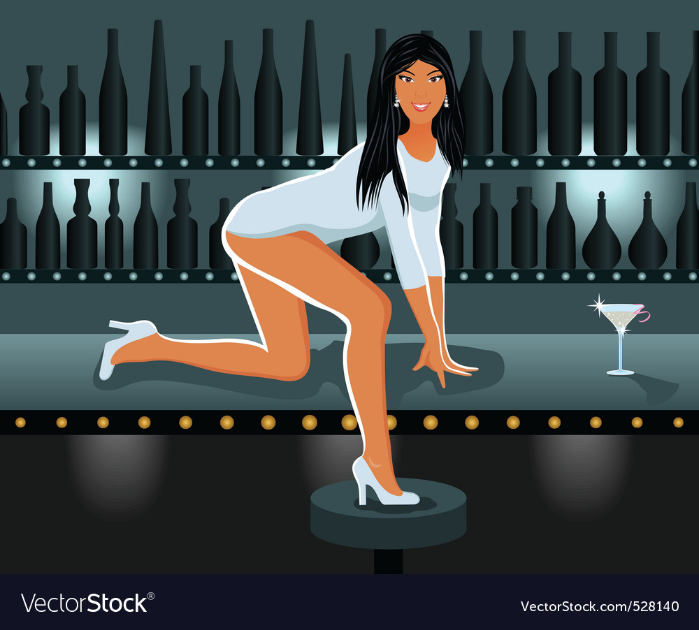 Sexy girl in night club vector