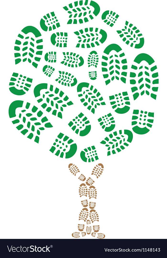 Footprint eco vector