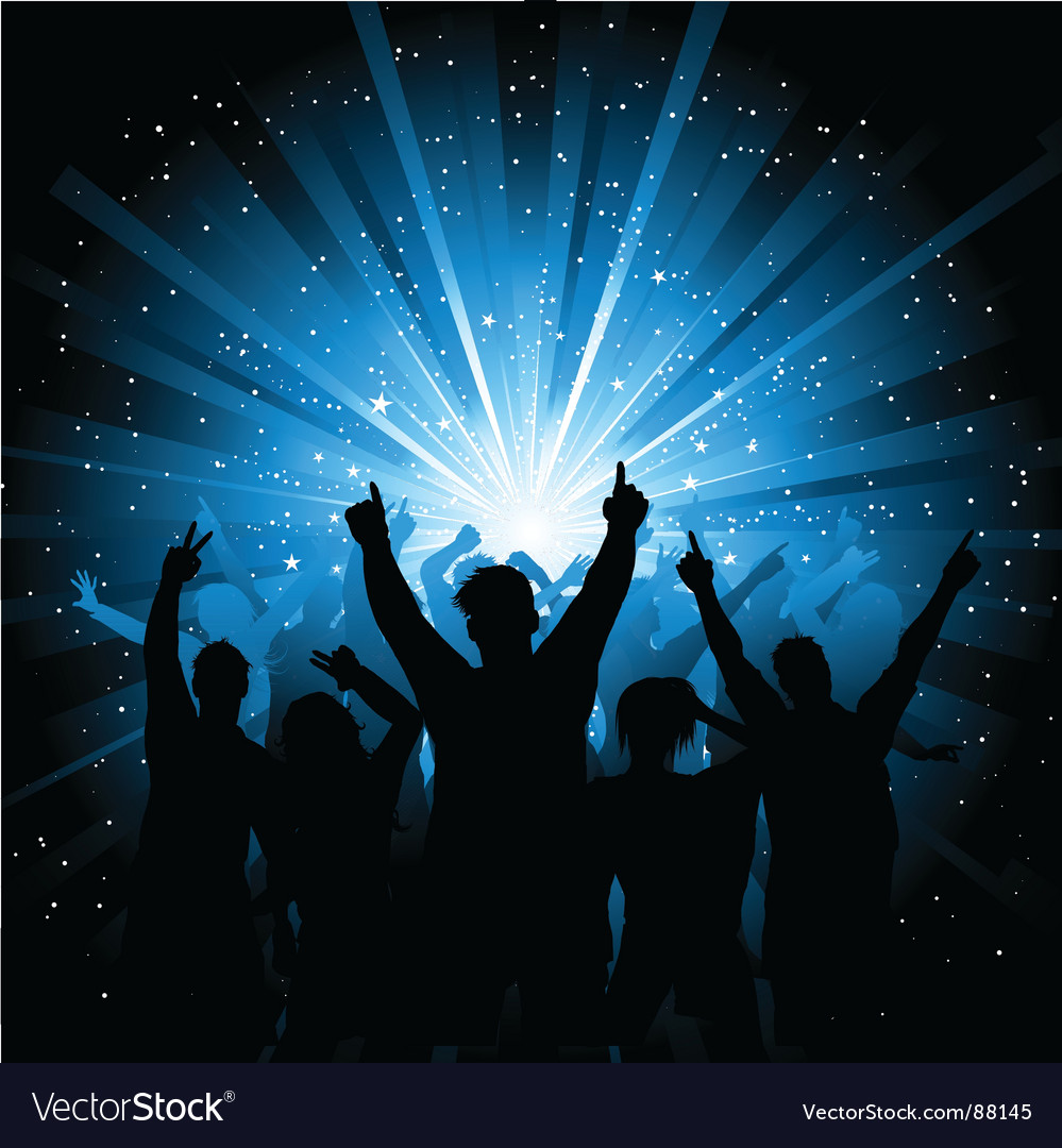 Disco crowd vector