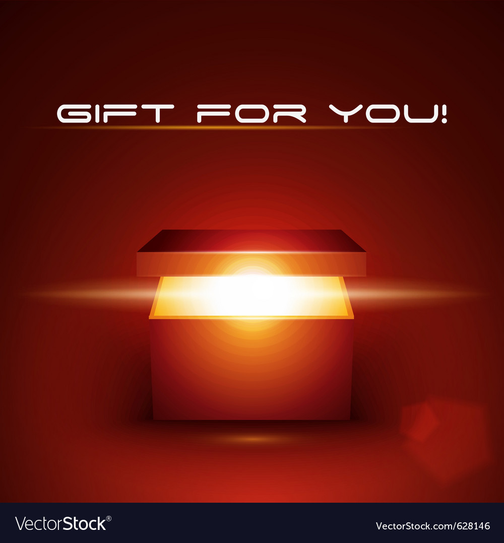 Editable of magic gift box vector