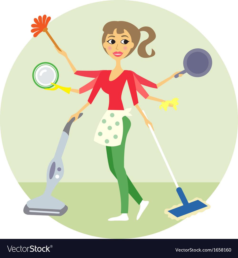 housewife vector by macrovector   image 1658160   vectorstock