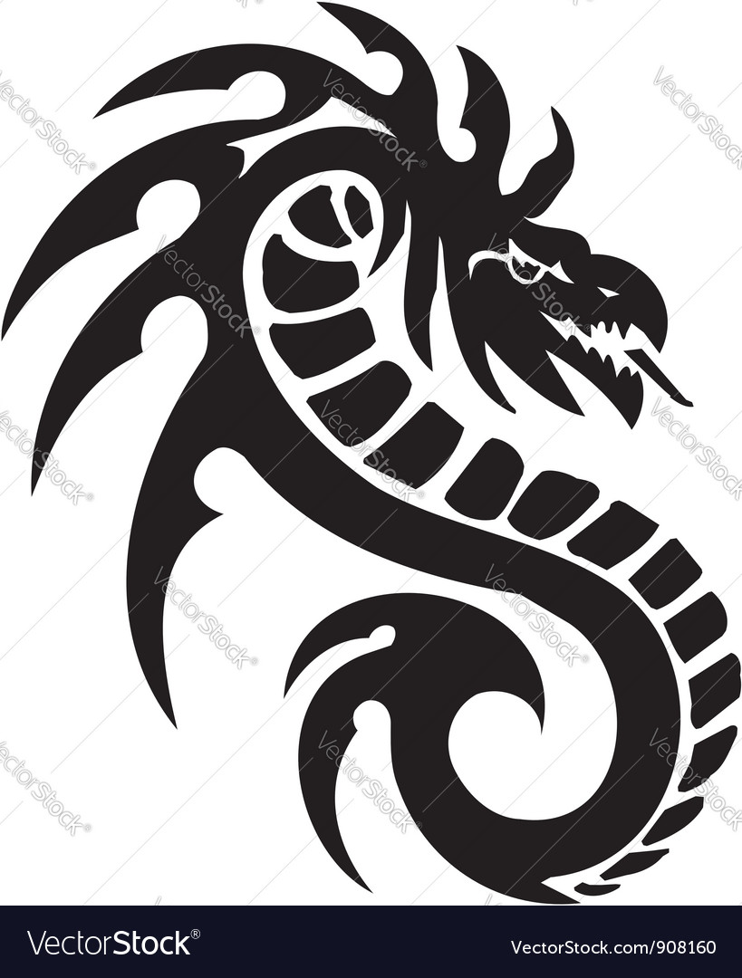 Sea monster -  vinyl-ready vector