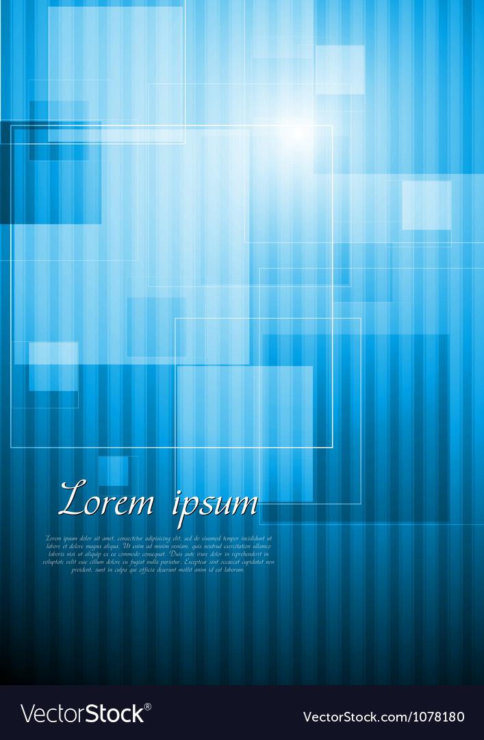 Bright blue hi tech design vector