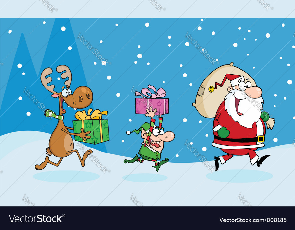Christmas night vector