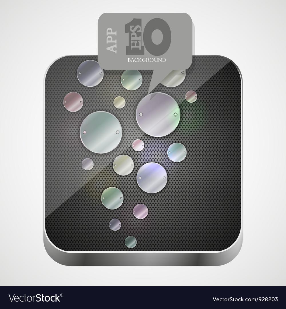 Metal app icon vector