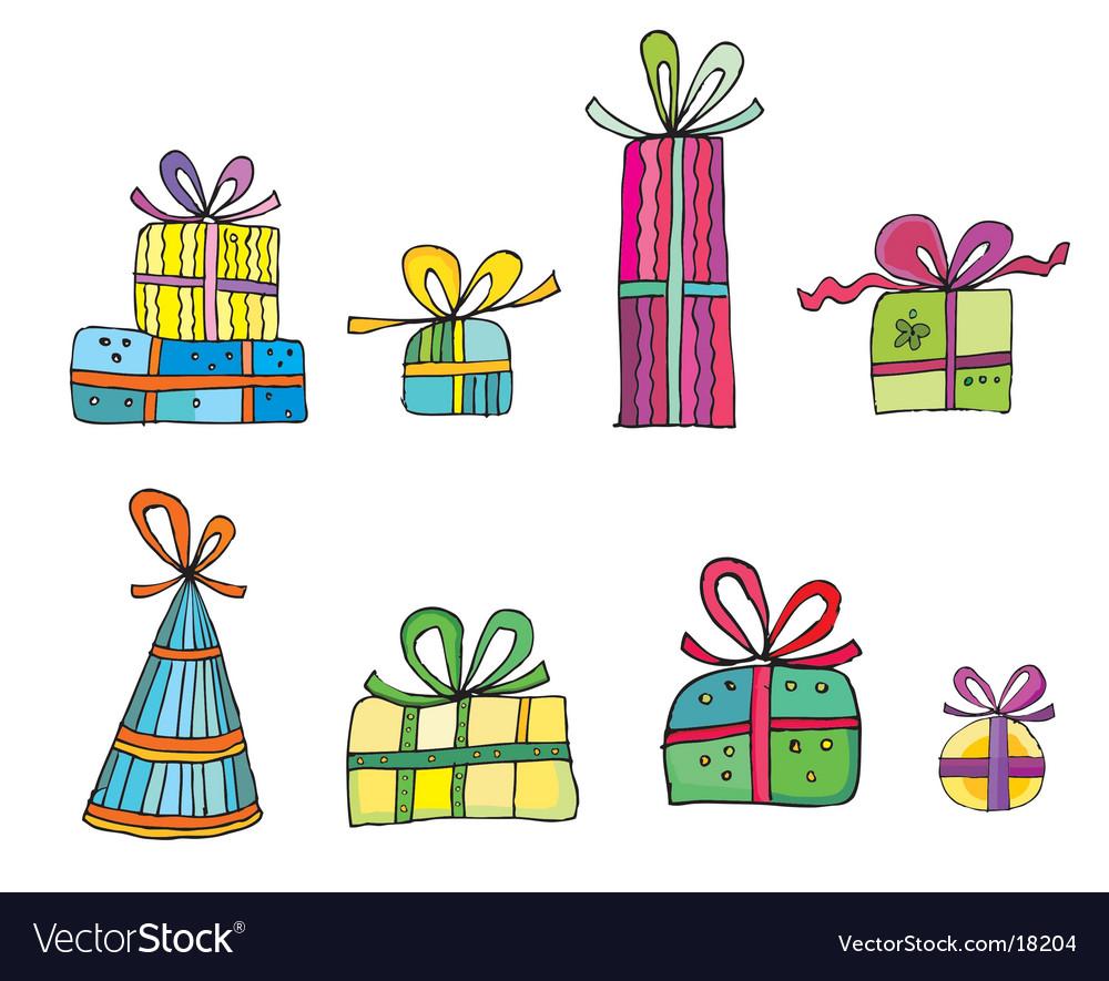Cute colorful presents vector