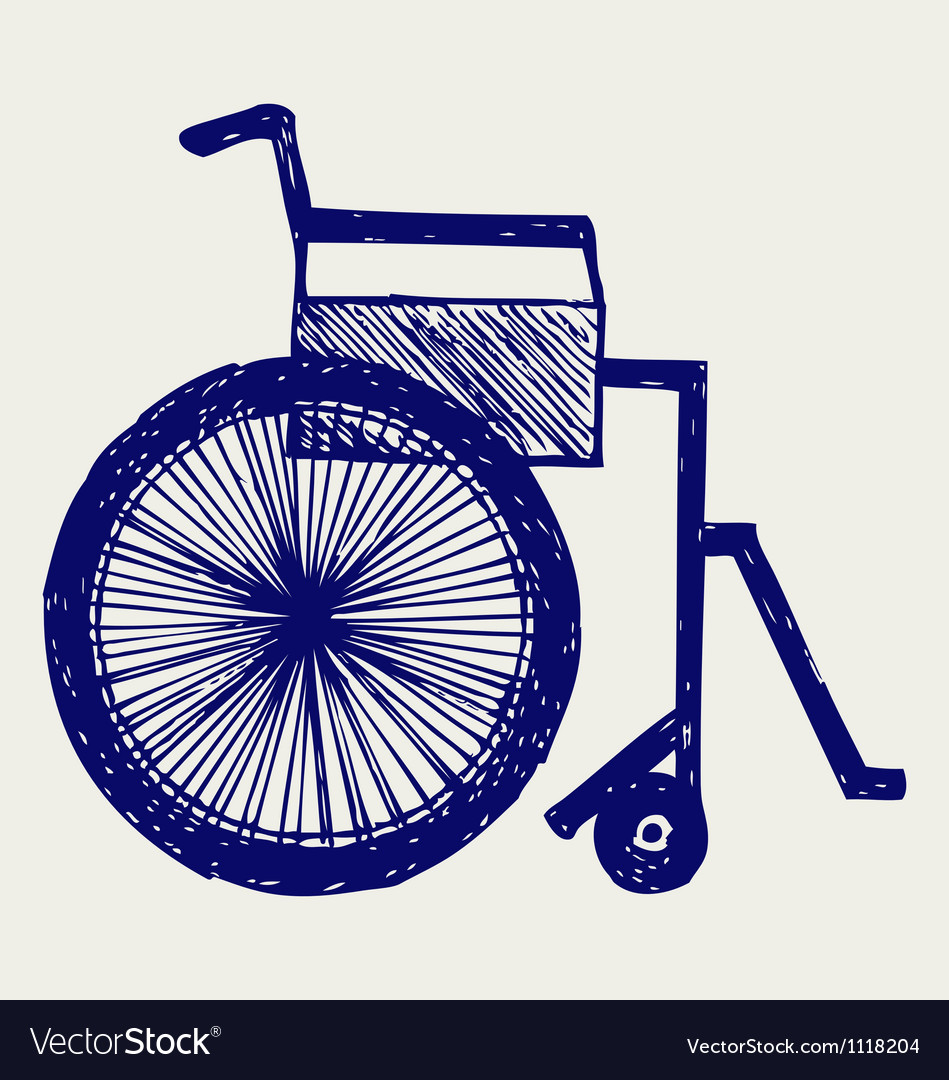 Invalid chair vector